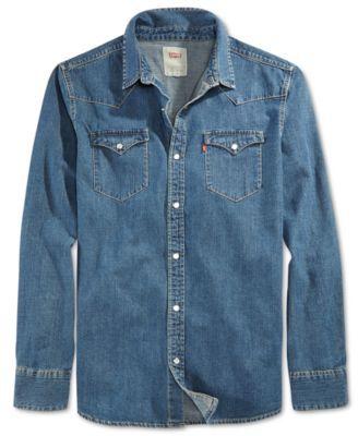 54541cf5ab LEVI S Levi s® Men s Standard Barstow Western Long-Sleeve Denim Shirt .   levis  cloth  down shirts