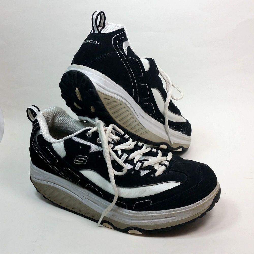 Skechers Shape Ups Style 11809 Sz 8 Shoe Sneakers Walking Athletic Womens Black