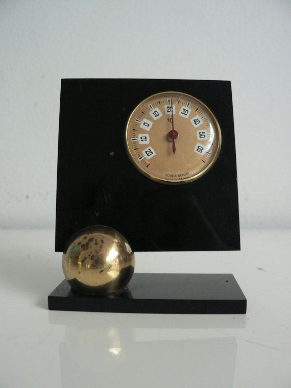 French Art Deco Thermometer Desk Size / 1930s by secreteyesonly