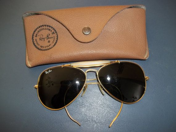vintage ray ban bausch and lomb  price reduction vintage mens bausch & lomb ray ban aviator sunglasses in original case