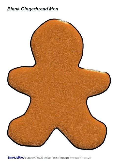 Blank Gingerbread Man Preview Blank Gingerbread Man