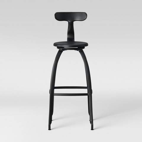 Project 62 Seidler Architect Industrial Barstool Black Project 62 Black Bar Stools Bar Stools Modern Bar Stools