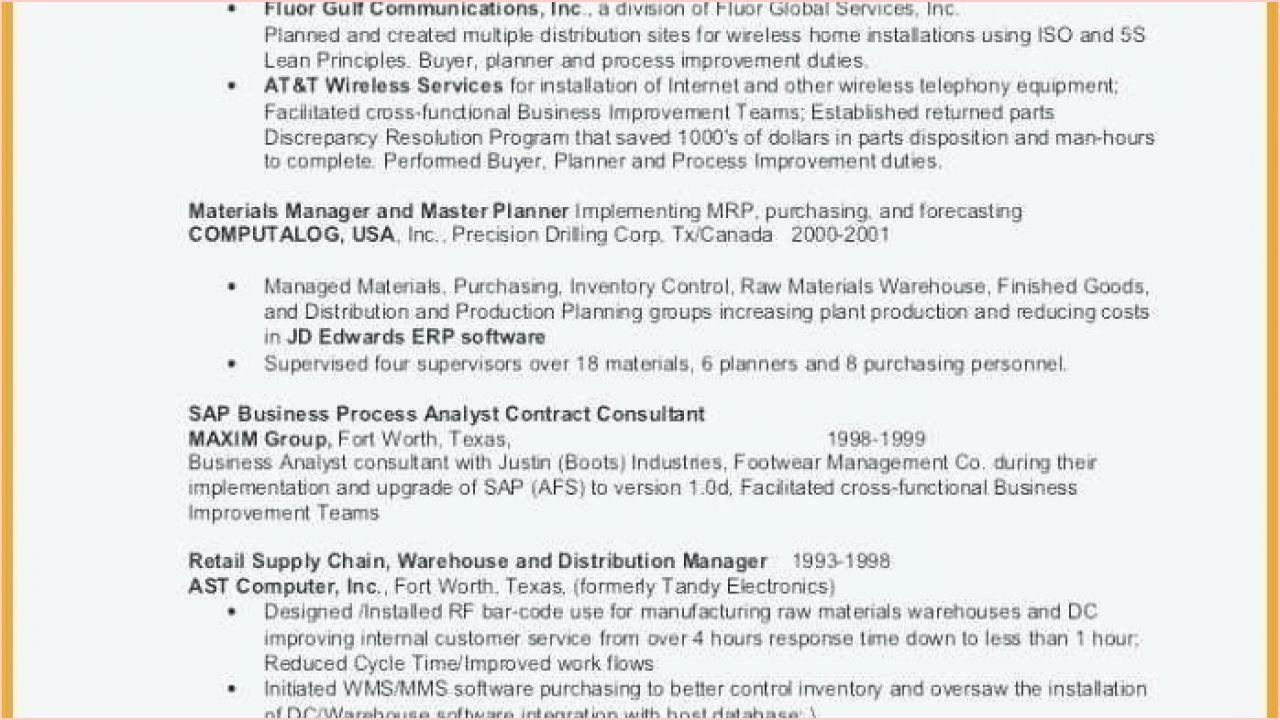 Supply Chain Analyst Resume Unique Business Analyst Resume Objective In 2020 Resume Template Project Manager Resume Resume Examples