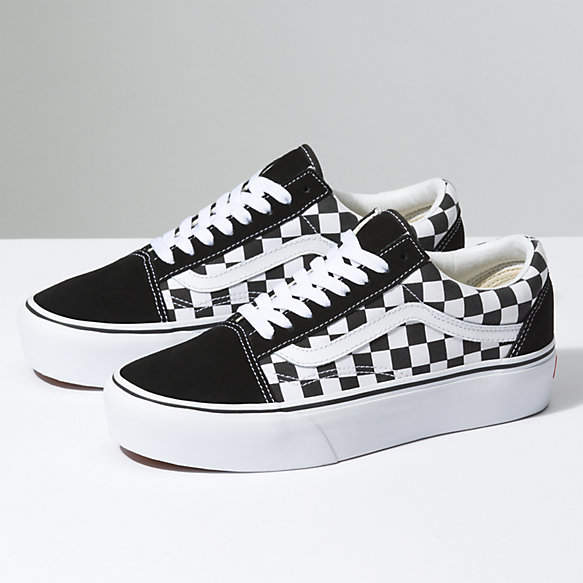Checkerboard Old Skool Platform | Shop Classic Shoes | Vans ...