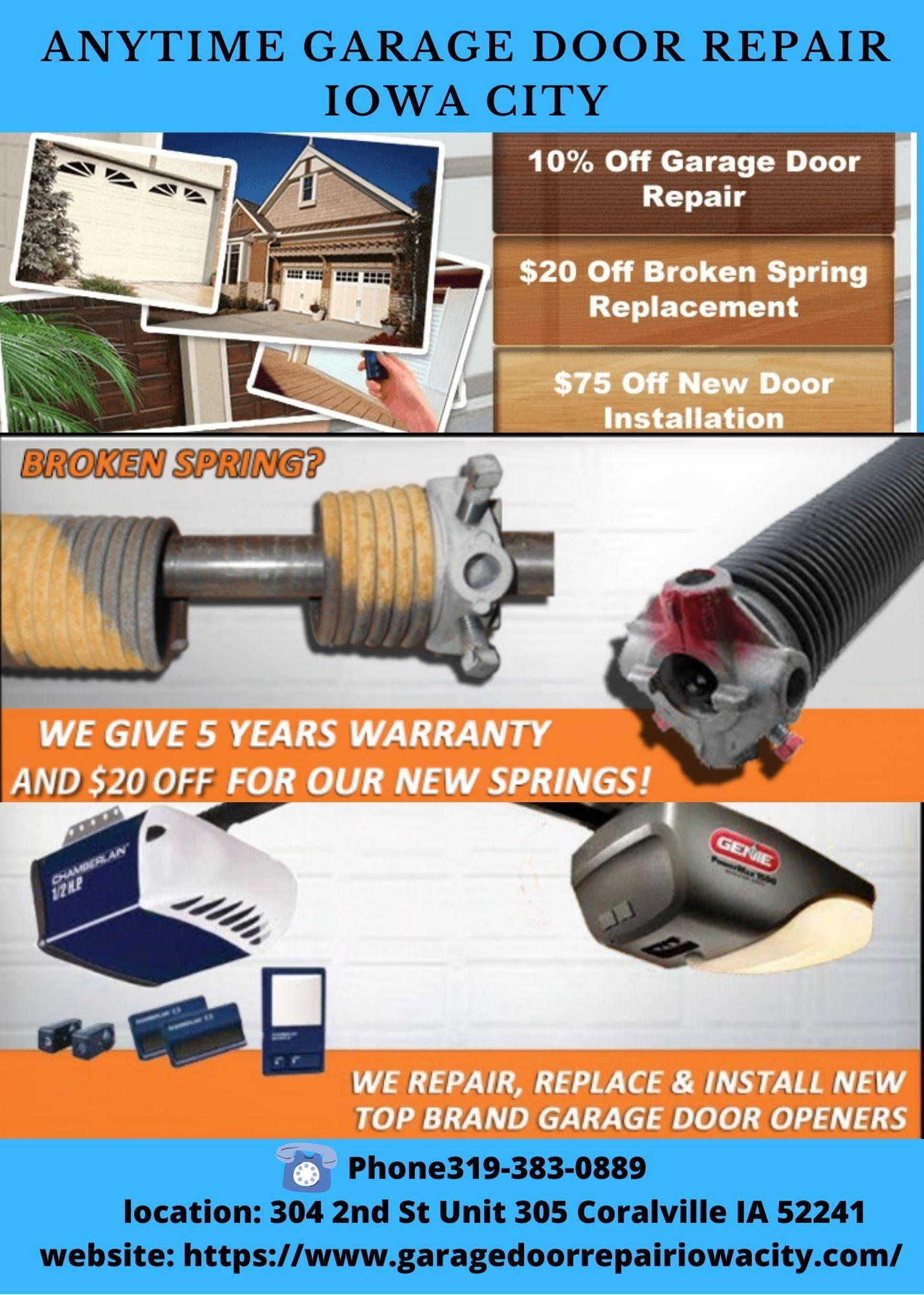 Garage Door Rollers Replacement Services Iowa City In 2020