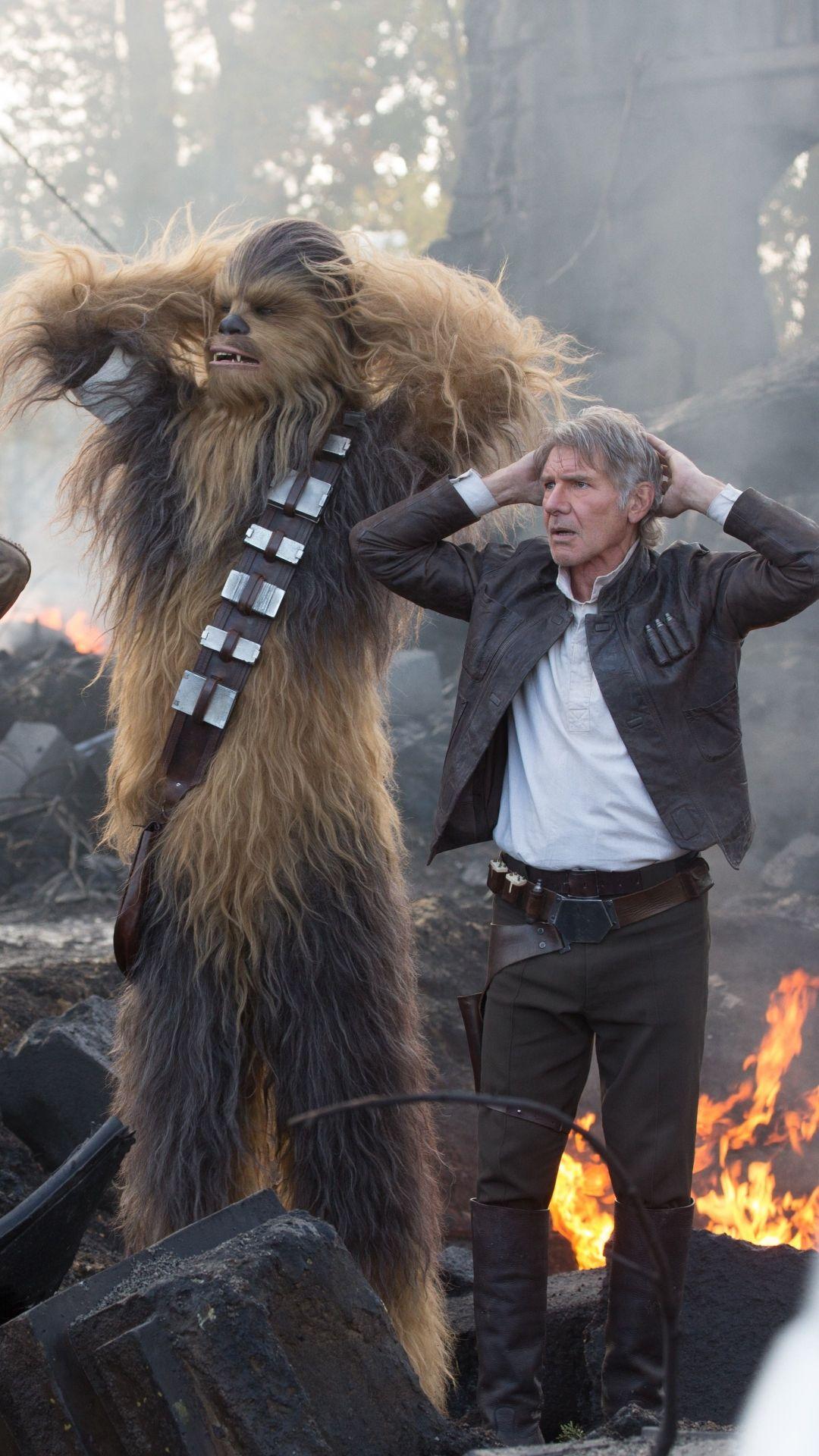 Movie Star Wars Episode Vii The Force Awakens Star Wars Chewbacca John Boyega Finn Han Solo Harri Star Wars Episode Vii Star Wars Episodes Star Wars Wallpaper
