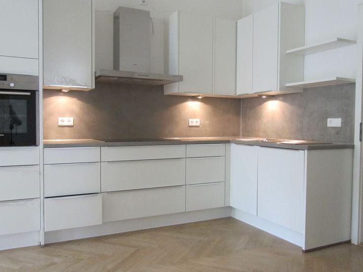 Countertop Concrete Kitchen Ideas Dogmatise Info Concrete Countertop Dogmatise Dogmatiseinfo Ideas Kitchen Betonkuche Kuche Beton Fliesenspiegel Kuche