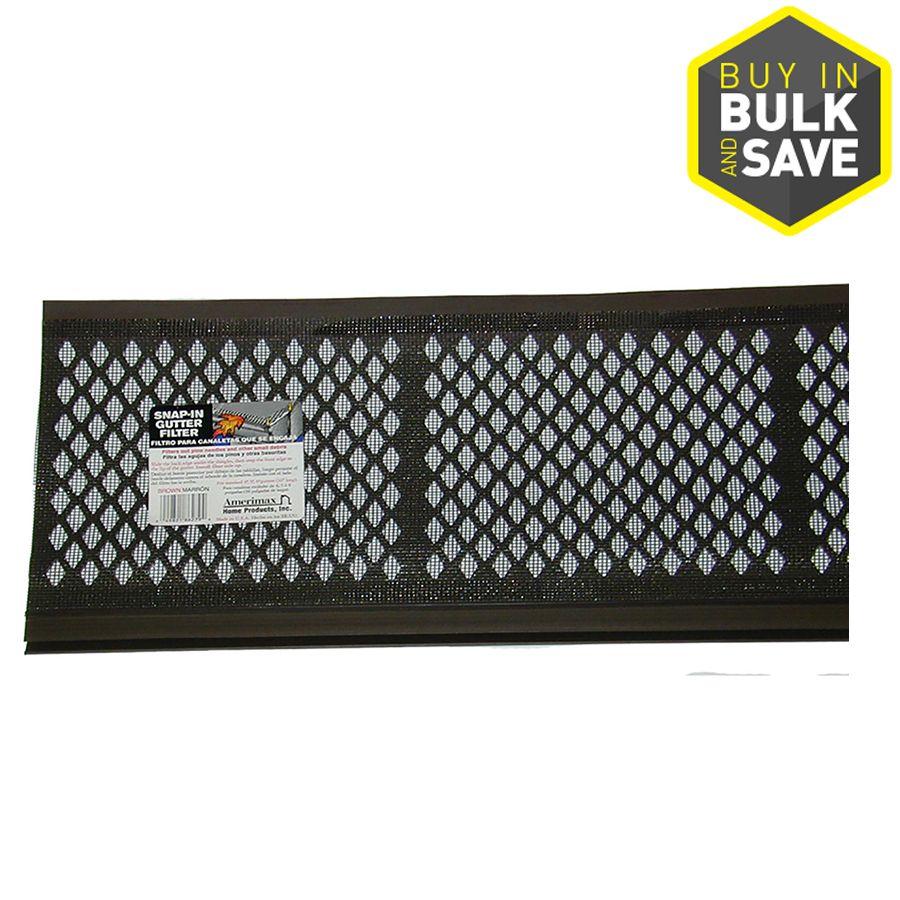 Amerimax SnapIn Gutter Filter PVC Gutter Screen (6.5in x