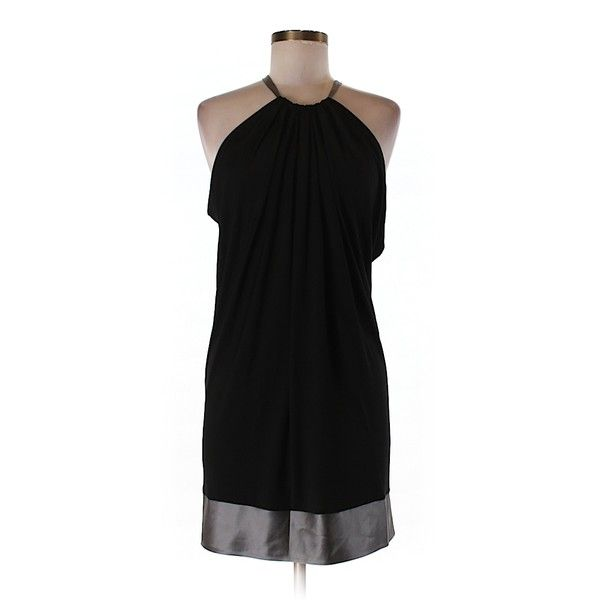Pre-owned BCBGMAXAZRIA Casual Dress ($53) ❤ liked on Polyvore featuring dresses, black, pre owned dresses, preowned dresses, bcbgmaxazria and bcbgmaxazria dress