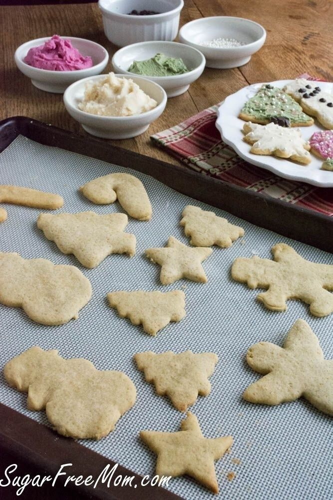 Sugarless Low Calorie Sugar Cookies #sugarfreedesserts