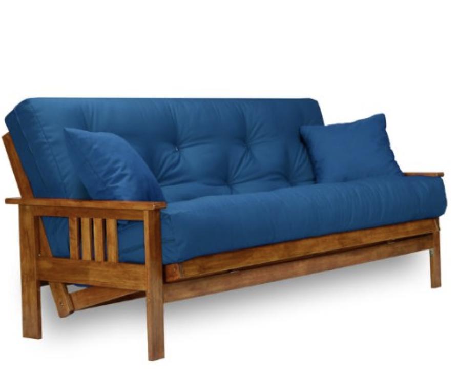 Multi Positional Futon Easily Converts Into A Sofa Lounger
