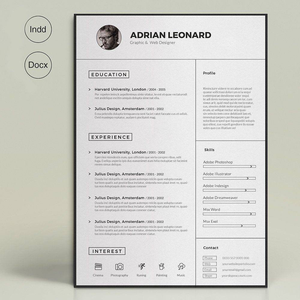 Super Resume by sz81 on @creativemarket | Templates | Pinterest ...