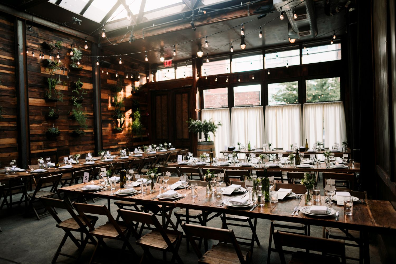 Tables are set at Brooklyn Winery for another wonderful