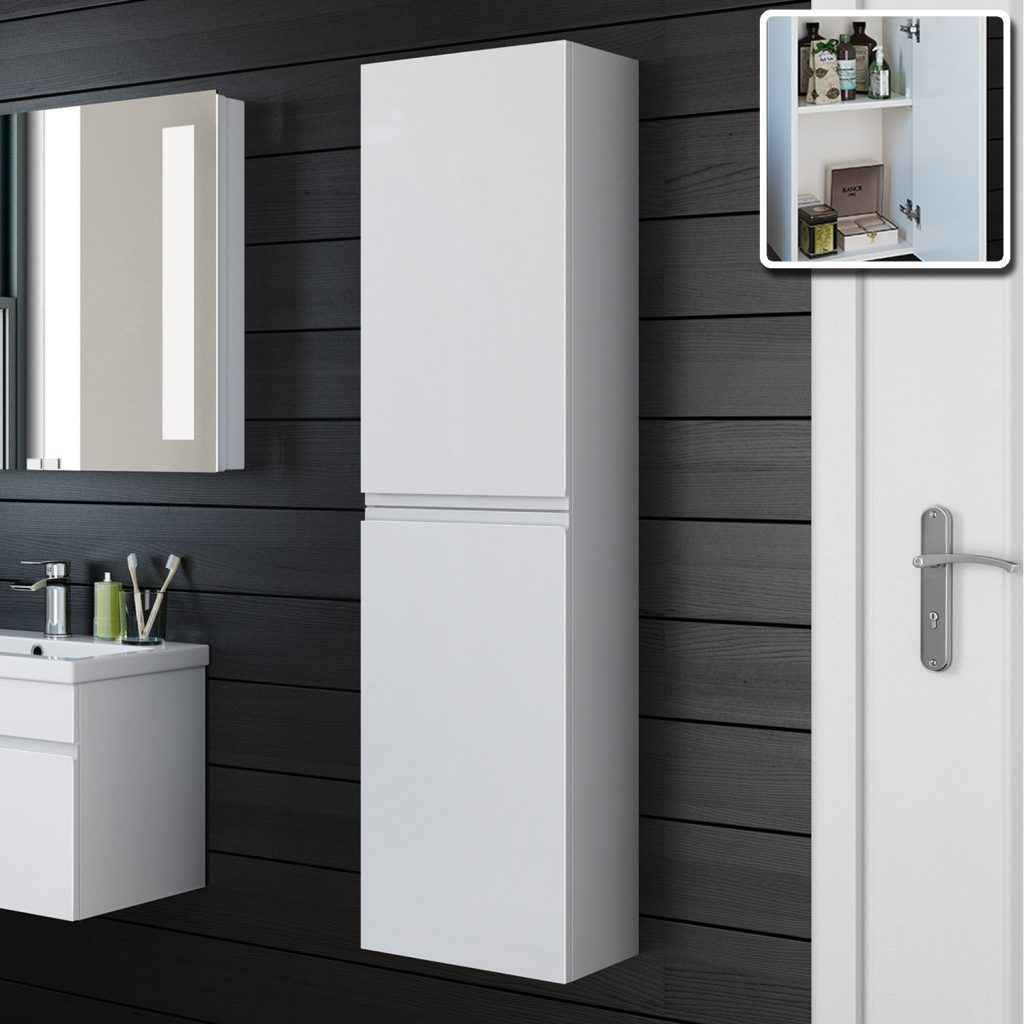 Wall Mounted Bathroom Cabinets Wall Mounted Bathroom Storage Bathroom Cabinet Storage Hacks Tall Cabinet Storage White Bathroom Furniture Bathroom Tall Cabinet