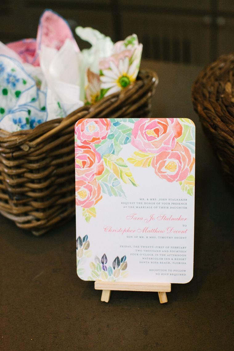 Intimate Colorful Wedding At Watercolor Resort | Colorful weddings ...
