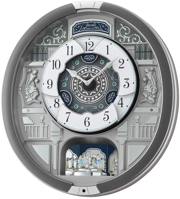 Seiko Melodies In Motion Wall Clock Qxm366srh Clock In 2019 Grey Wall Clocks Seiko Clock