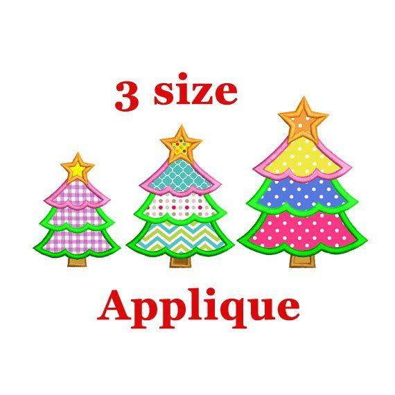 Christmas Tree Applique Embroidery Design Christmas Applique Etsy Christmas Applique Applique Embroidery Designs Holiday Embroidery