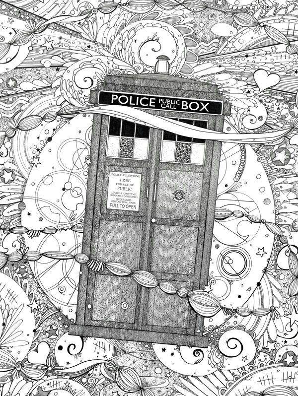 Coloring Bookmark Knizhnaya Zakladka Raskraska Doktor Kto Doctor Who Besplatnye Raskraski Raskraski Artbuki