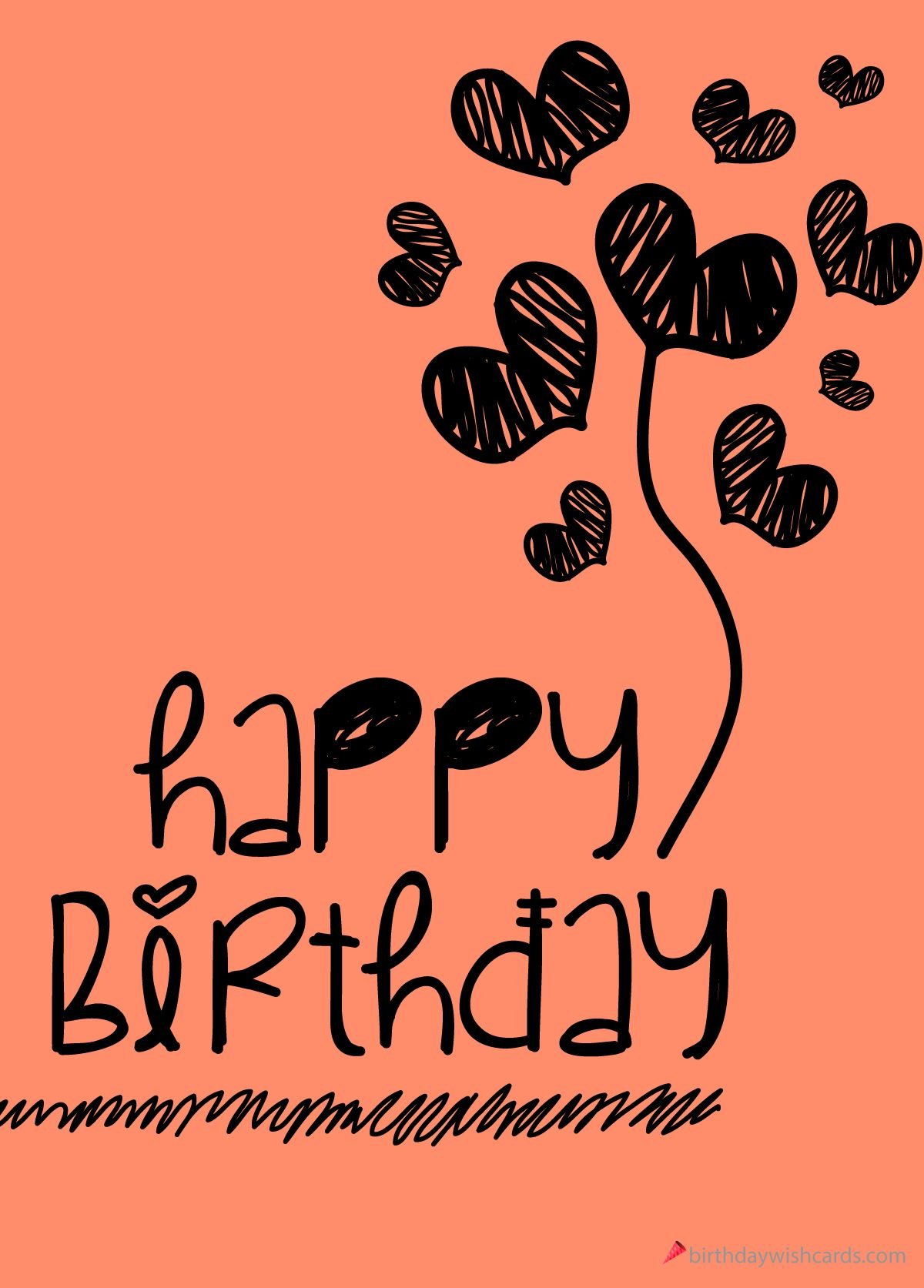 Happy Birthday Digital Hand Drawing Happy Birthday Drawings Happy Birthday Friend Birthday Card Drawing