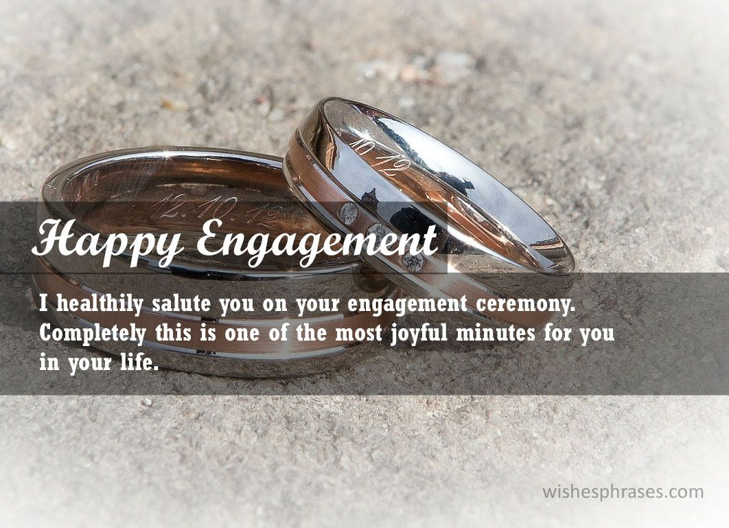 Want To Send Your Fiance Engagement Wishes We Have Done It For You One Day Everyone Finds Their Soul Engagement Wishes Engagement Ceremony Engagement Message