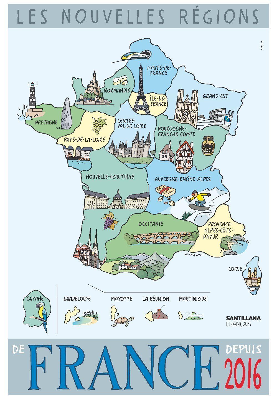 Les nouvelles régions de France depuis 2016 Les régions
