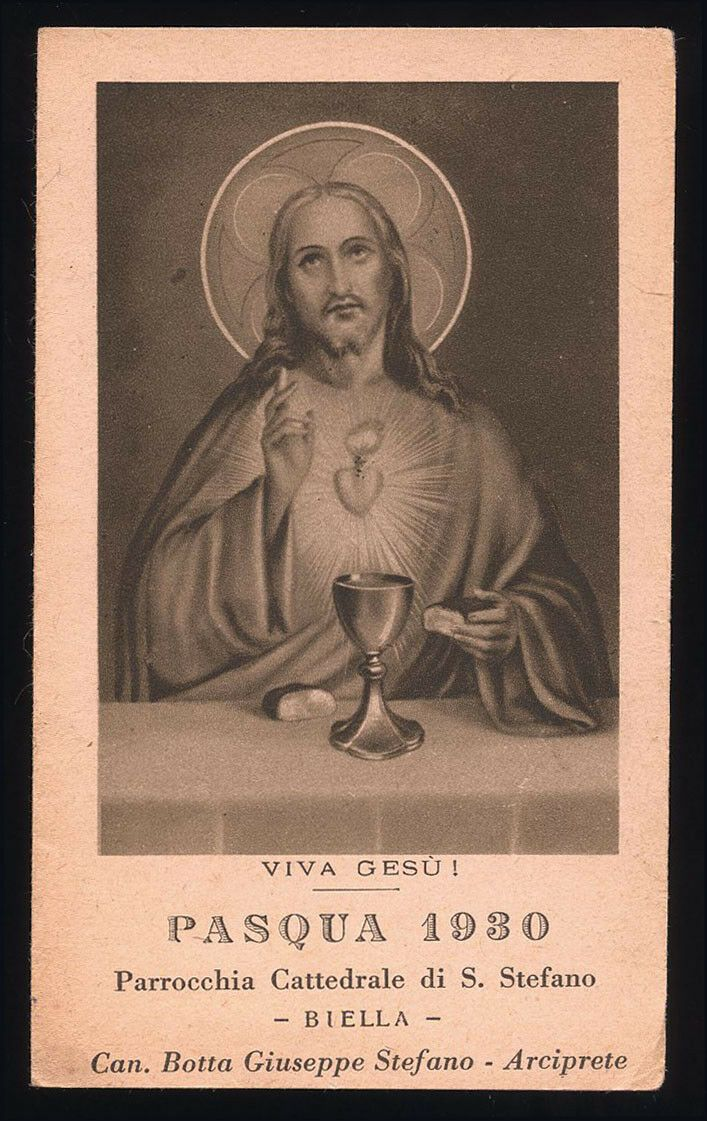santino-holy card*COMUNIONE PASQUALE BIELLA 1930