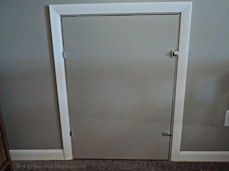 Diy Knee Wall Access Door Now That You Ve Seen The