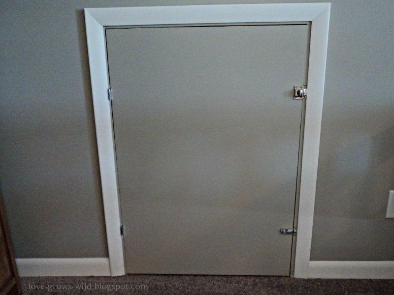 Diy Knee Wall Access Door Now That You 39 Ve Seen The
