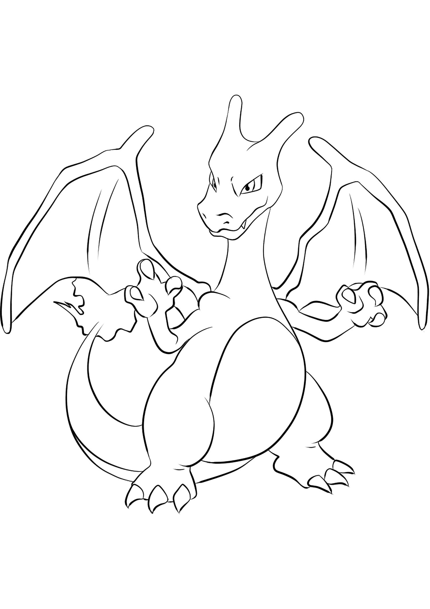 Charizard No 06 Pokemon Generation I All Pokemon Coloring Pages