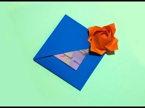 Easy gift card with flower and secret message inside origami card easy gift card with flower and secret message inside origami card ideas for gift mightylinksfo