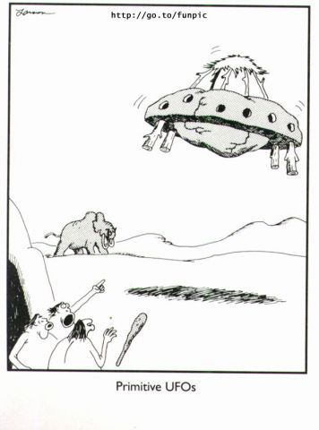 Primitive Ufos Far Side Comics The Far Side Far Side Cartoons
