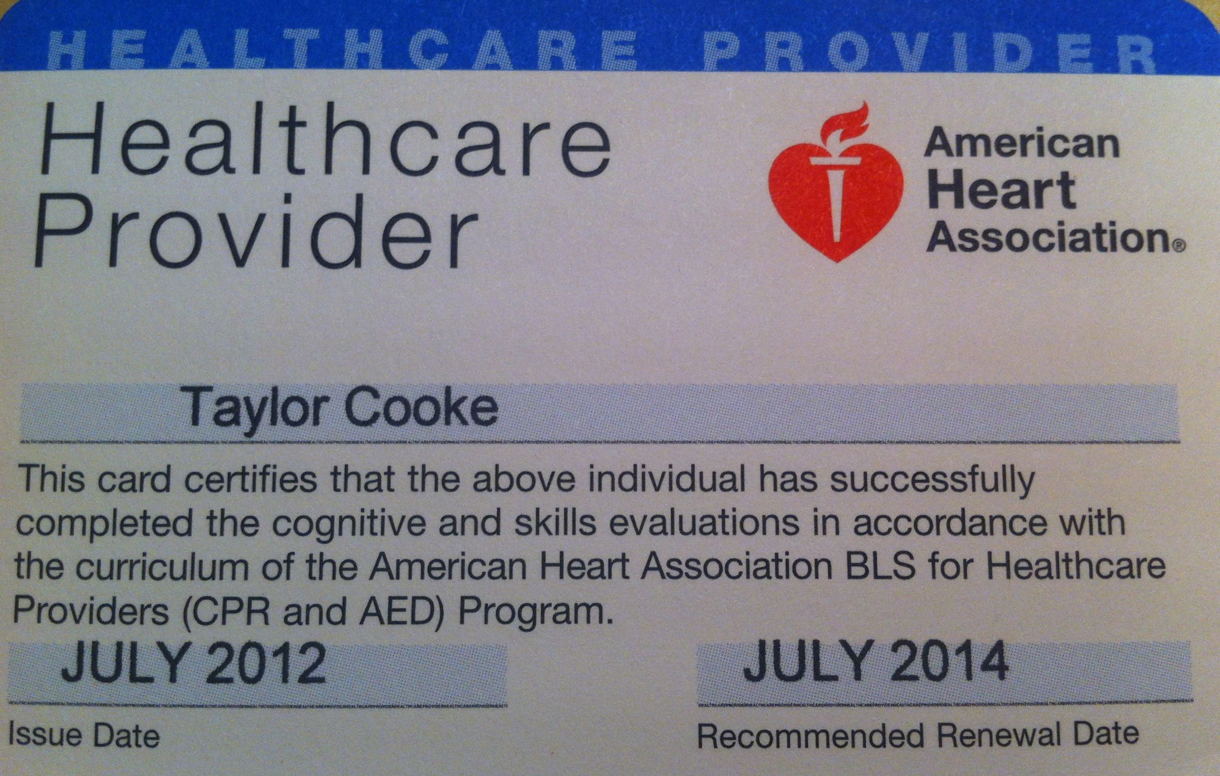 American Heart Association Bls For Healthcare Providers Cpr And Aed