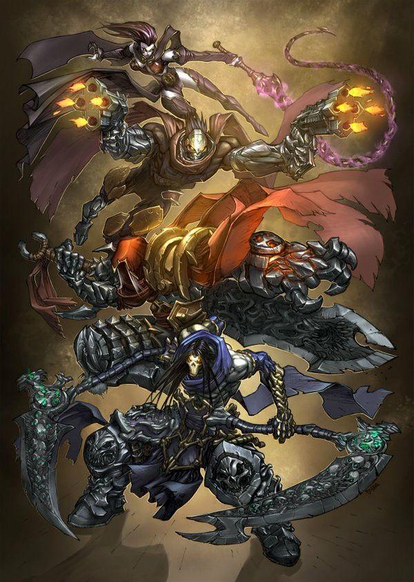 4 Cavaliers De L'apocalypse Darksiders : cavaliers, l'apocalypse, darksiders, Darksiders, Ideas, Horsemen,, Madureira,, Horsemen, Apocalypse