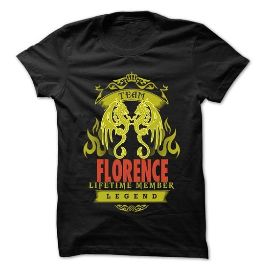 Team Florence ... Florence Team Shirt ! - #tee time #cat sweatshirt. SATISFACTION GUARANTEED => https://www.sunfrog.com/LifeStyle/Team-Florence-Florence-Team-Shirt-.html?68278
