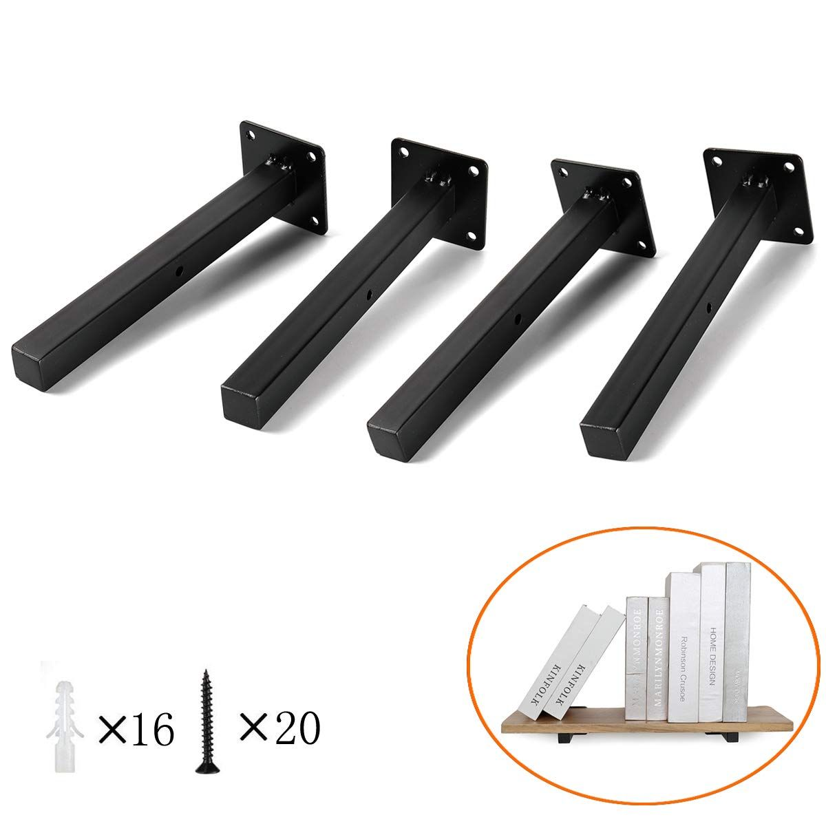 Heavy Duty Floating Shelf Brackets 8 Blind Industrial Metal Shelving Supports Wall Moun In 2020 Heavy Duty Floating Shelves Industrial Metal Shelving Metal Shelves