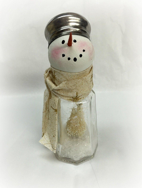 Amazoncom Salt  Pepper Shaker Snowman Handmade  Recycle Ideas