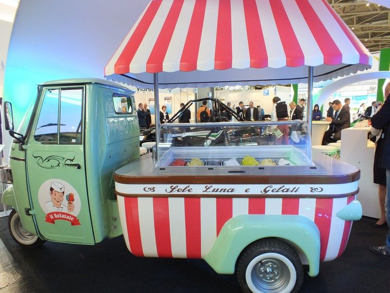 ein elektrischer eiswagen ice cream truck pinterest. Black Bedroom Furniture Sets. Home Design Ideas