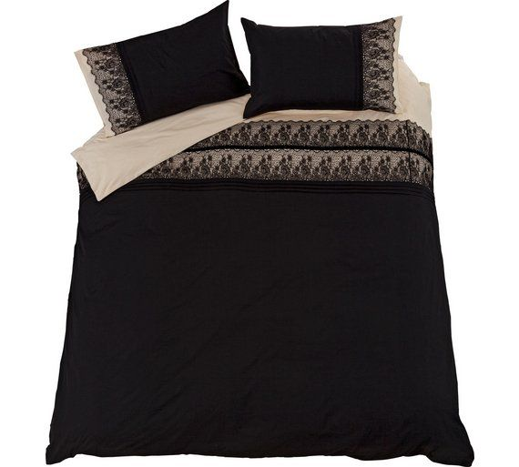 Collection Black Chantilly Lace Bedding Set Double At Argos Co Uk