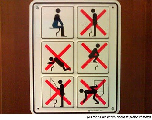 Geeze If people dont know how to use a toilet they should go out – Funny Bathrooms