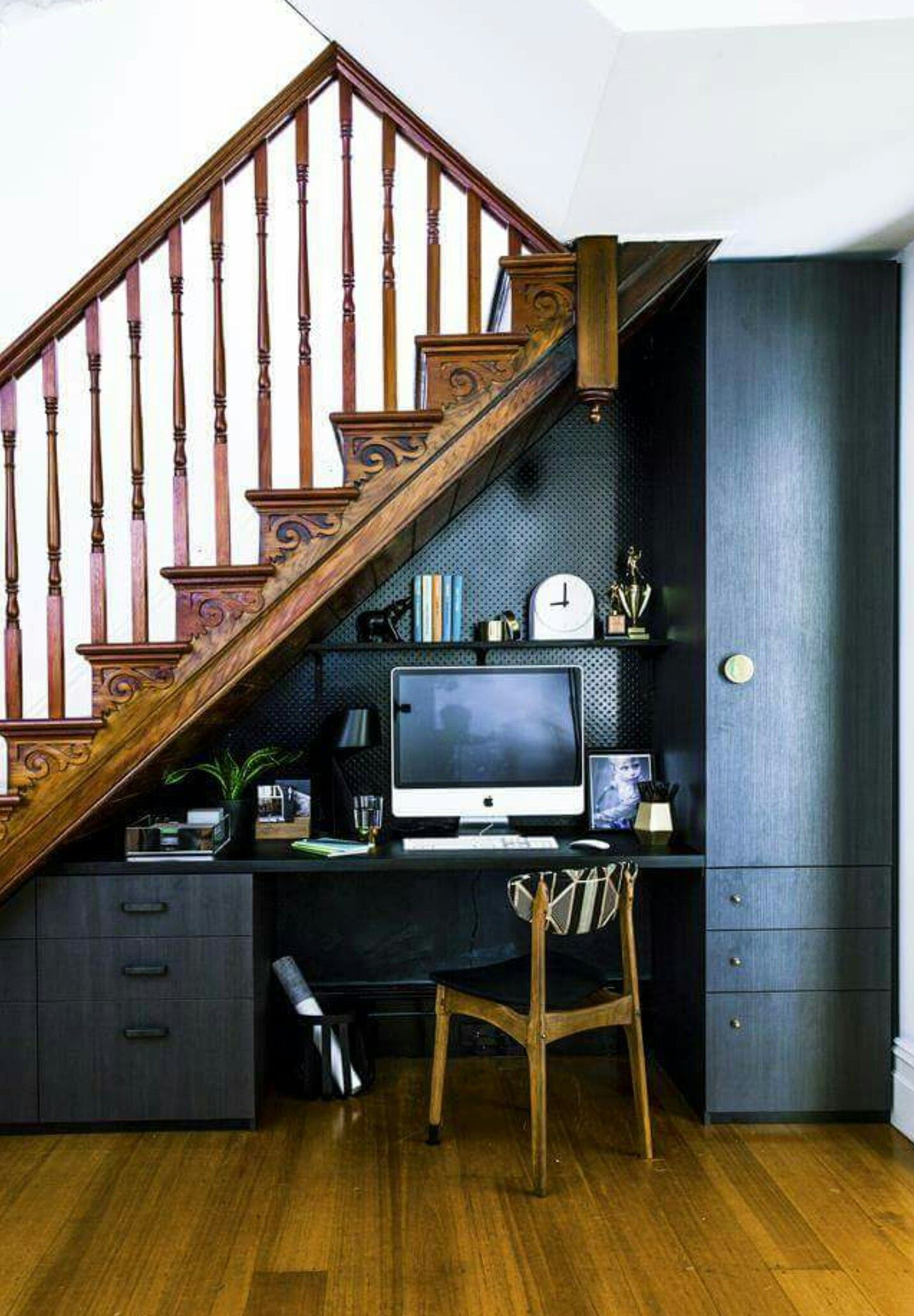 Under stairs study nook   Space under stairs, Stairs ...