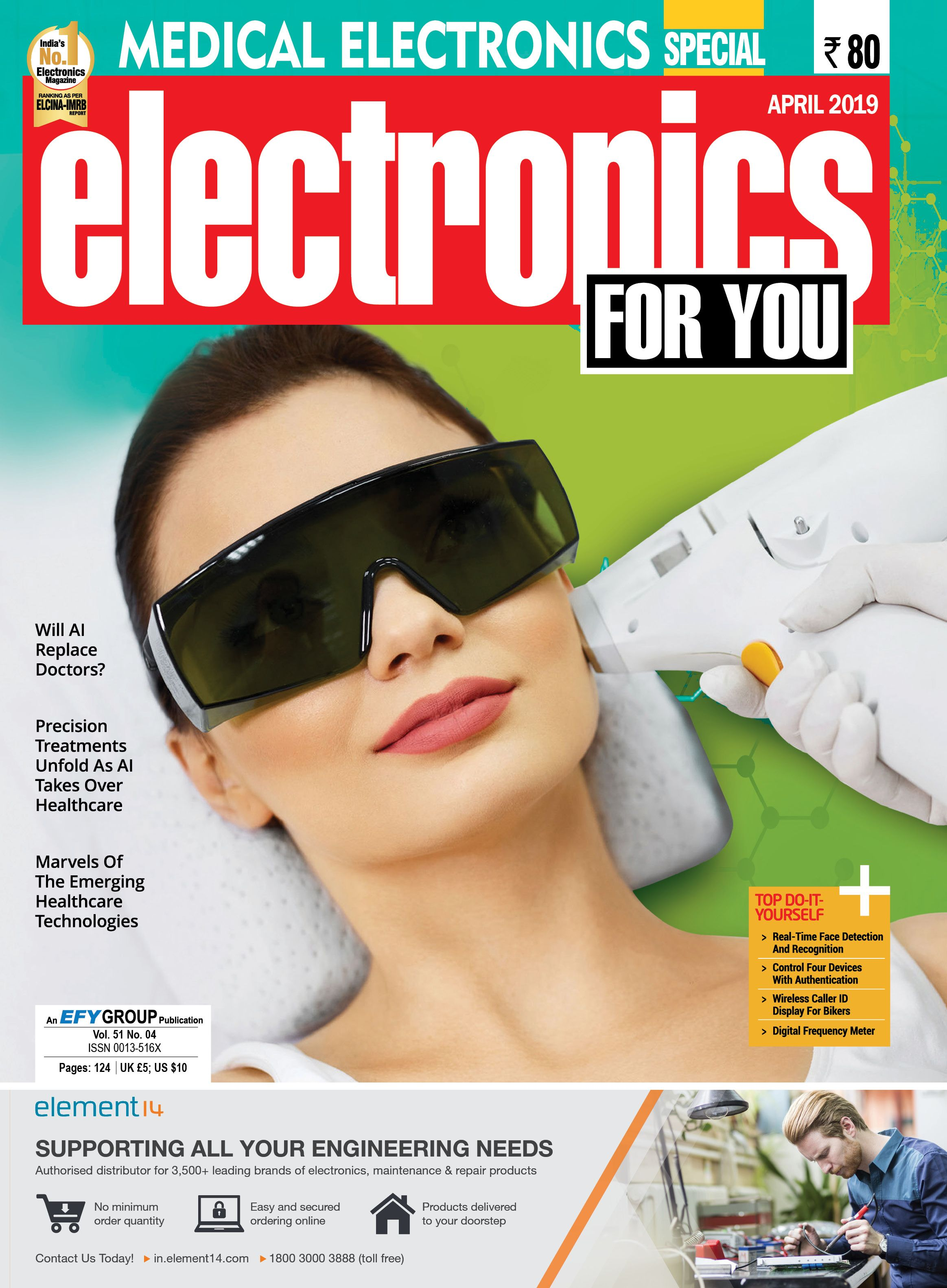 Electronics For You April 2019 Issue on Medical Electronics