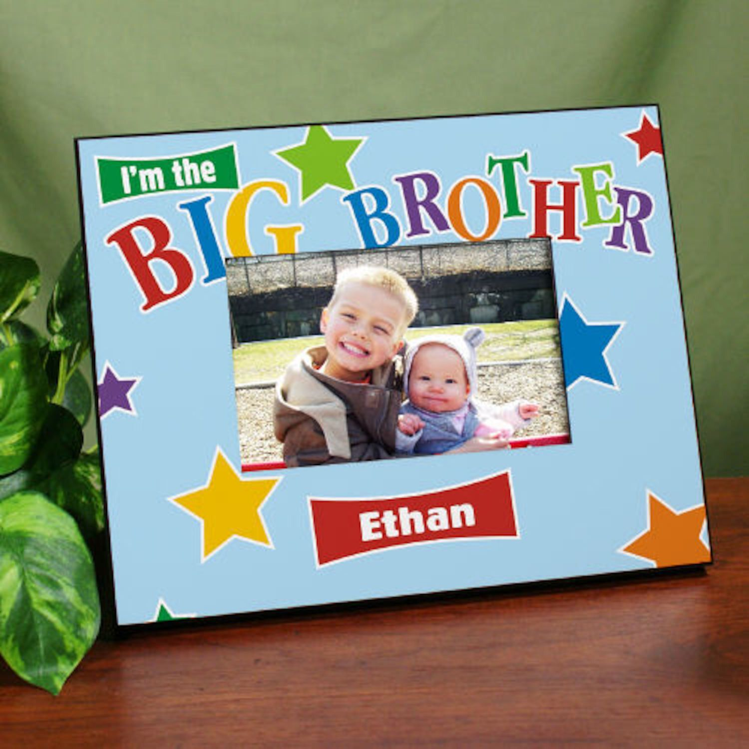 Personalized Big Brother Star Printed Frame | Products | Pinterest