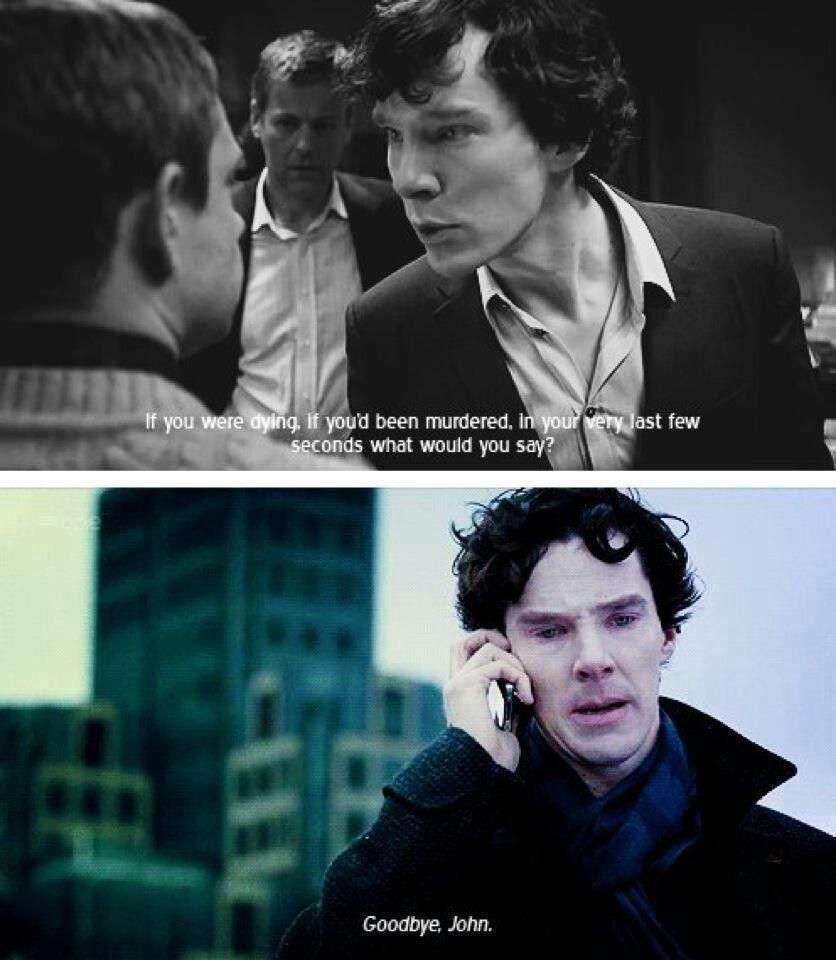 Sherlock. Goodbye John. TEARS.