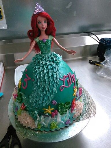 Awe Inspiring Ariel Doll Cake With Images Mermaid Birthday Cakes Ariel Doll Birthday Cards Printable Nowaargucafe Filternl