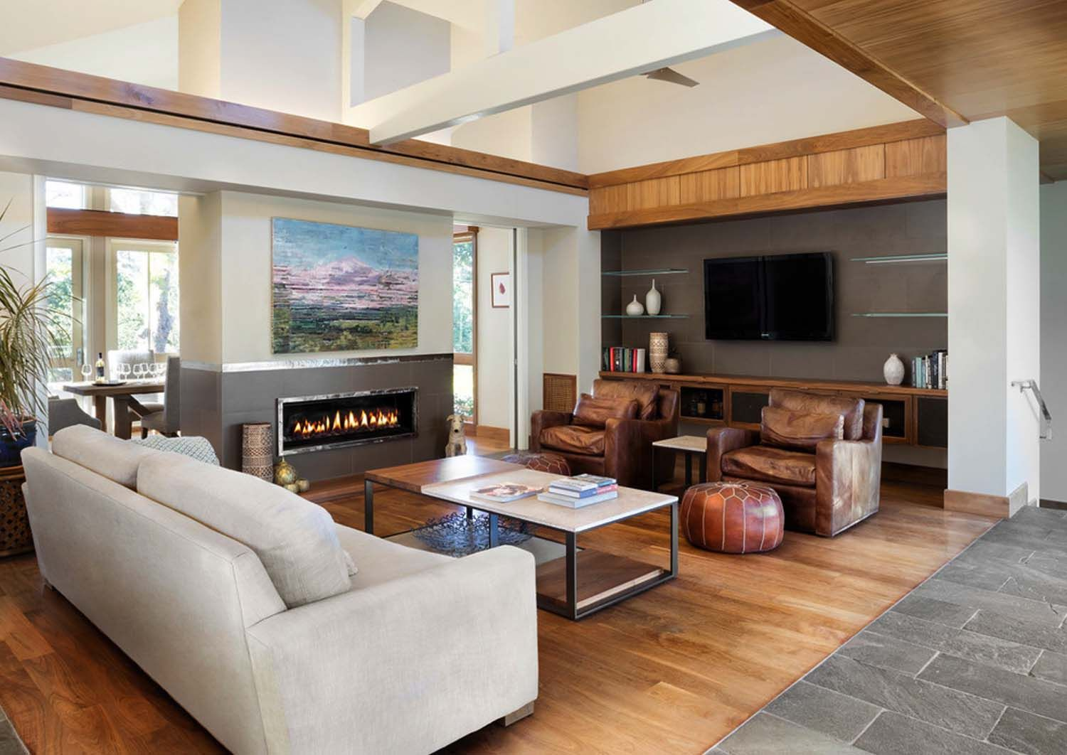Leed Platinum Contemporary Ranch House In Northern California Ranch House Living Room Designs Modern Living Room Interior #ranch #living #room #ideas