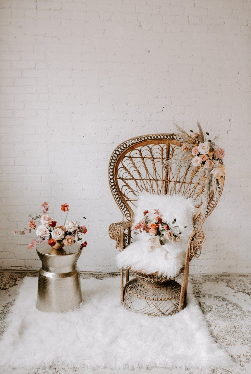 Contemporary Romance Styled By Ivory Rose Event Co Peacock Chair Boho Chair Boho Baby Shower