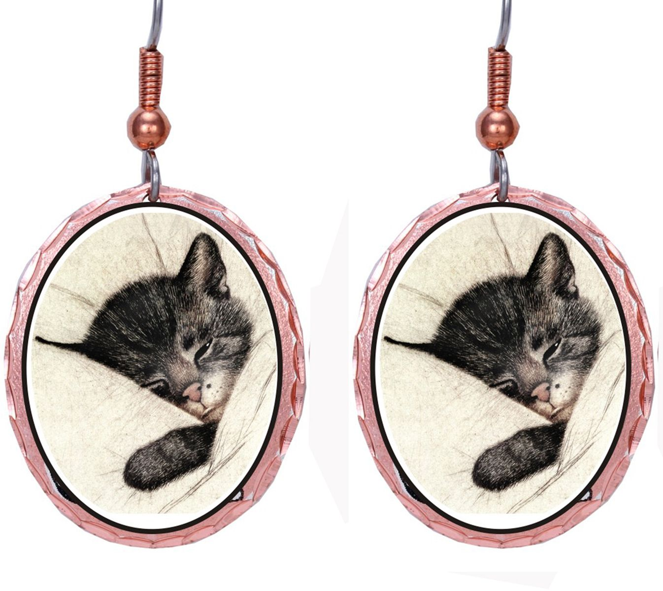 Earrings Chessie Cat Jewelry Cat Merchandise Kitten Pillow