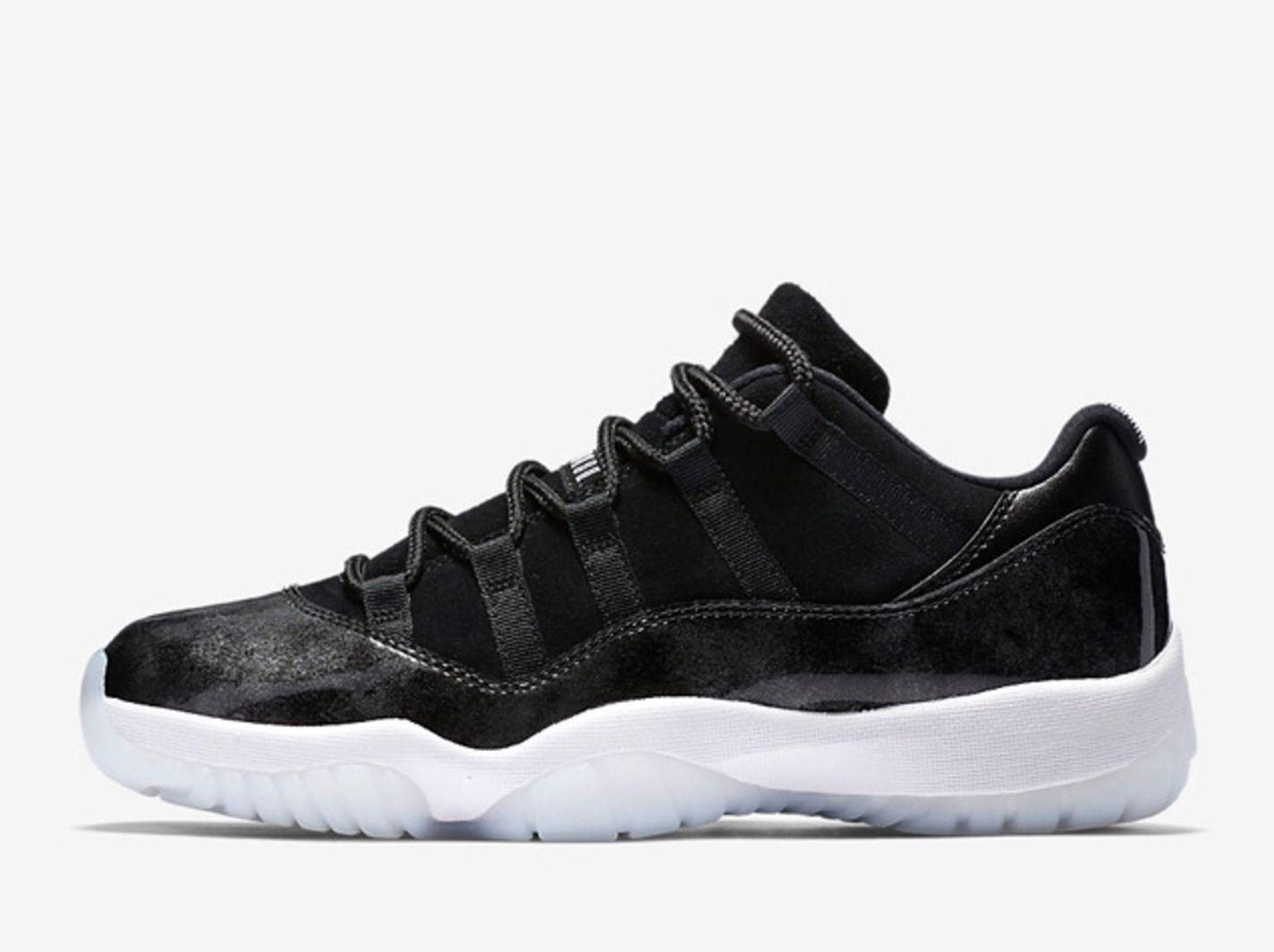 Air Jordan 11 Retro Low Black Metallic Silver Summer 2017 2 Sneakers Men Fashion Air Jordan Shoes Air Jordans