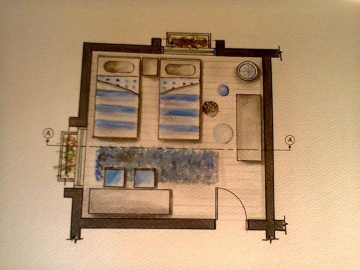 مقدم لمساق طرق تعبير في التصميم Apartment Floor Plan Interior Sketch Decor