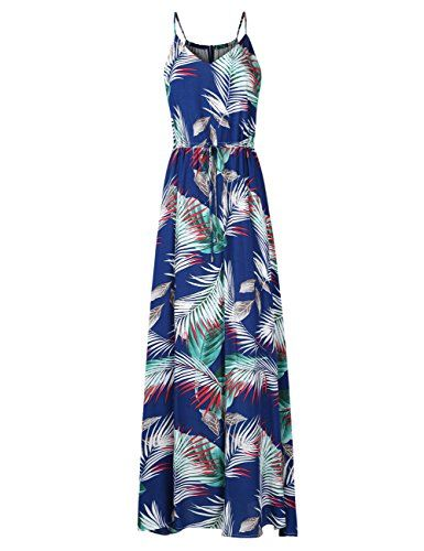 Leadingstar Womens Floral Casual Beach Party Maxi Dress